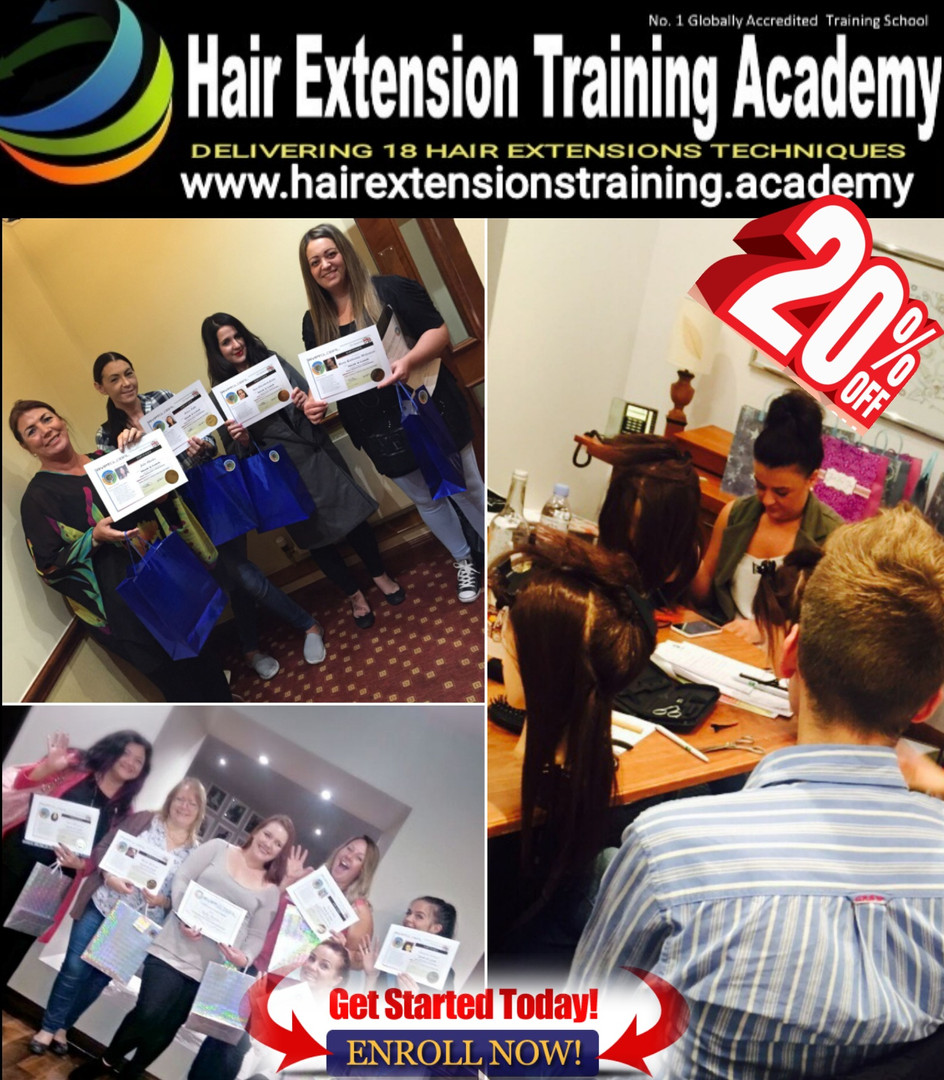 Get discount on your hair extensions course