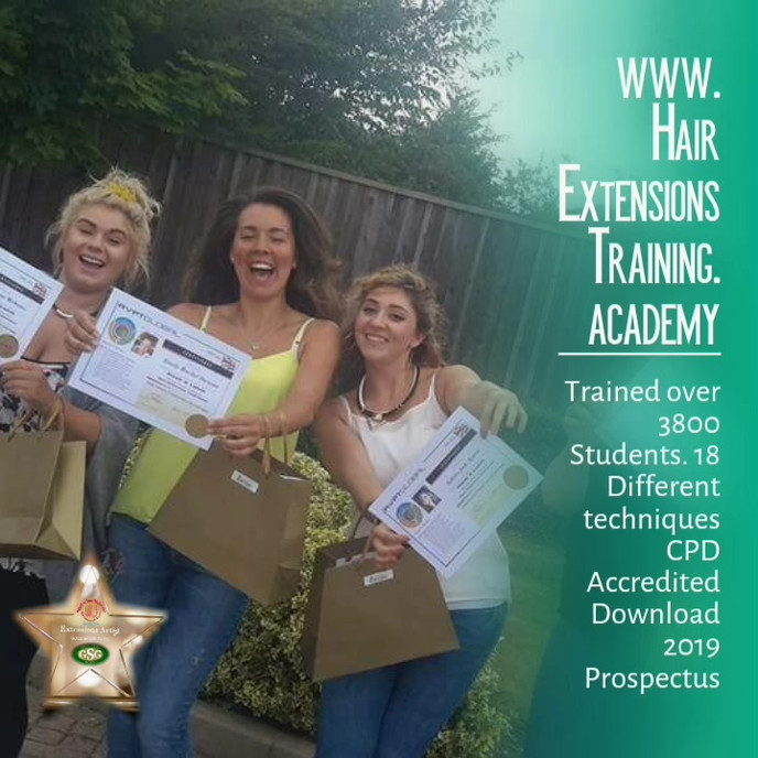Hair extensions training academy courses