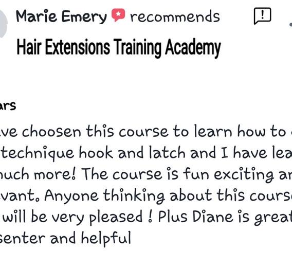 Hair Extensions Training Academy Testimonial 6
