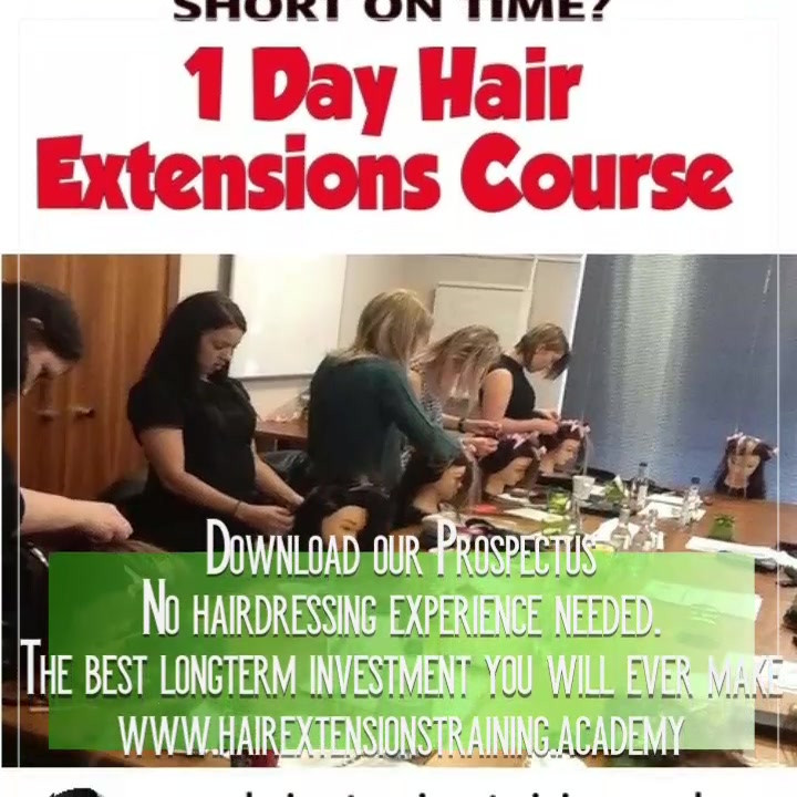 Earn more money by training in hair exte