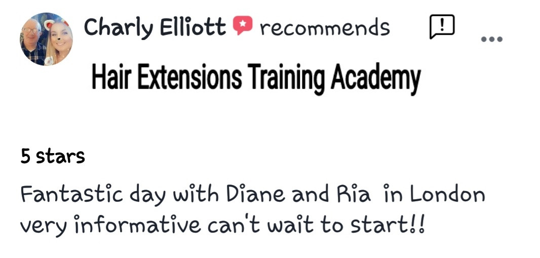 Hair Extensions Training Academy Testimonial 10