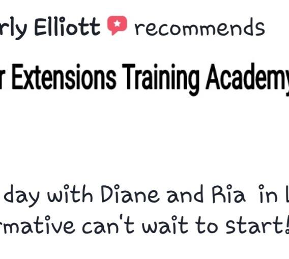 Hair Extensions Training Academy Testimonial 10