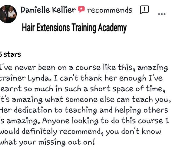 Hair Extensions Training Academy Testimonial 4