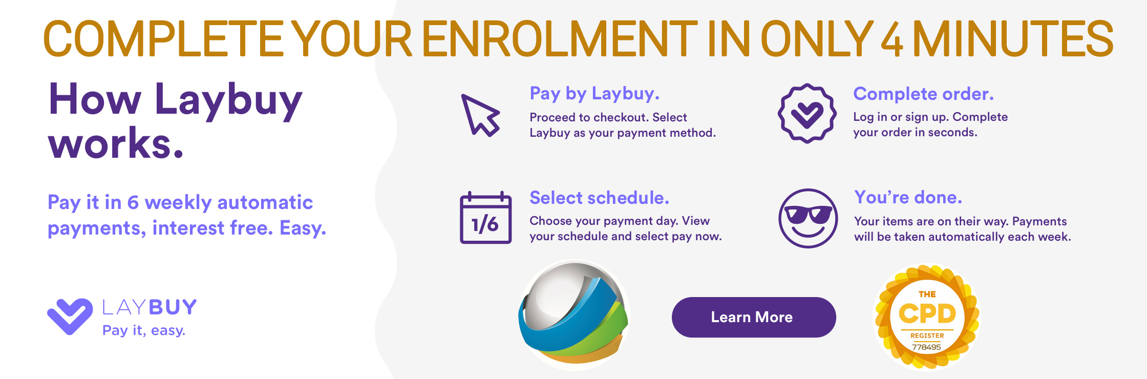 pay for your course with laybuy