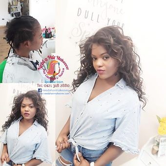 lace wig fitting by need a hair makeover