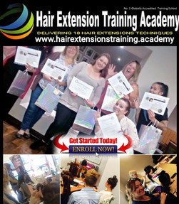 students graduation at hair extensions training academy