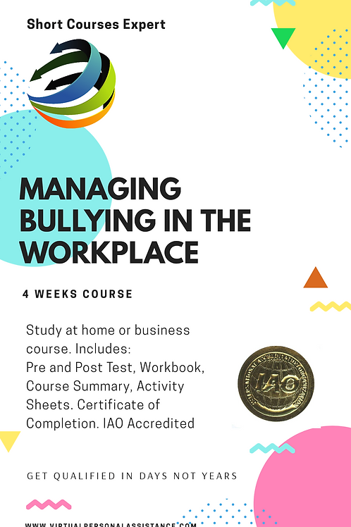 Managing Bullying in the work place