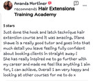 Hair Extension training academy review