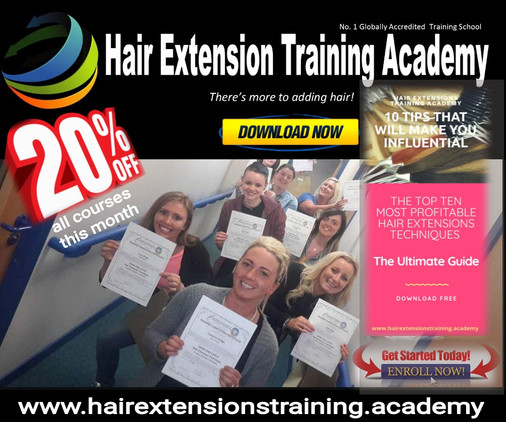 20% of selected hair extensions training courses