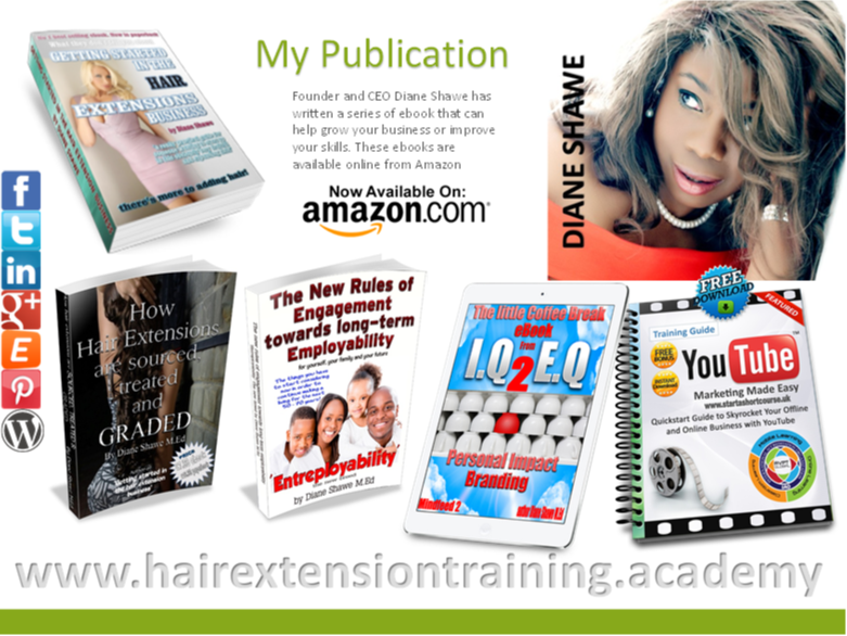 17 Hair Extension Prospectus Cover Diane Shawe Author publications
