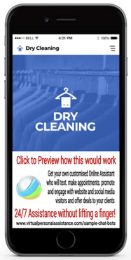 Dry-Cleaning Chatbot Sample