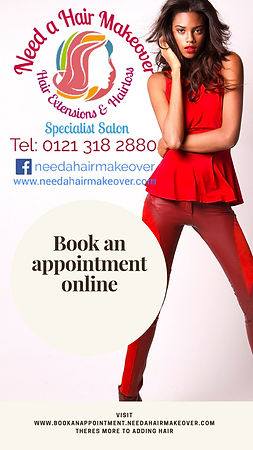 Book hair extension appointappointment online