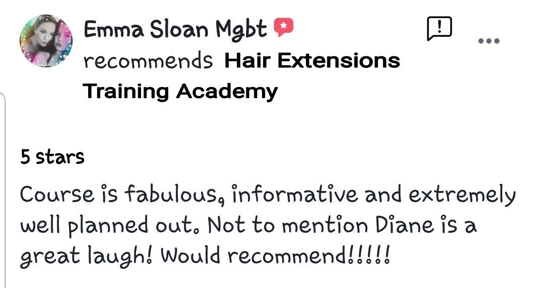 Hair Extensions Training Academy Testimonial 9