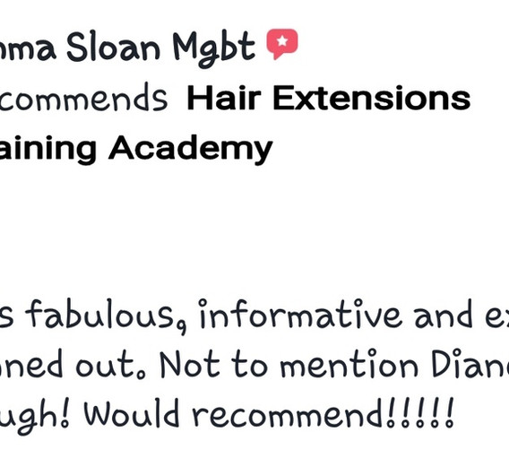 Hair Extensions Training Academy Testimonial 9