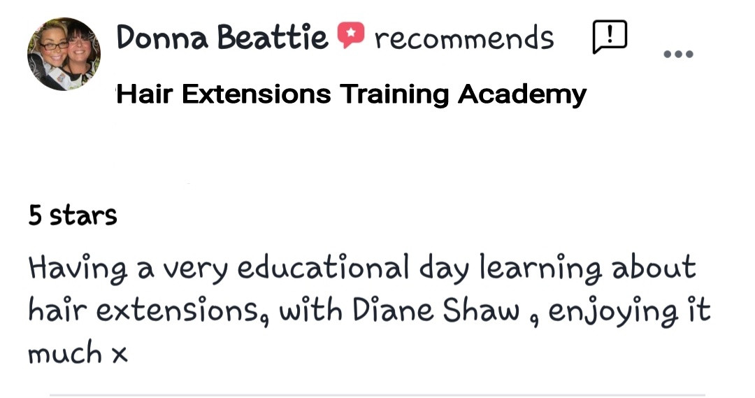 Hair Extensions Training Academy Testimonial 11