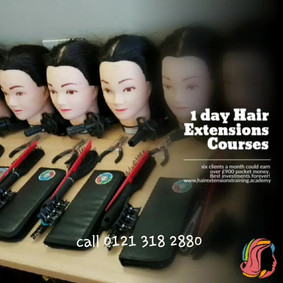 I day hair extensions course new no glue