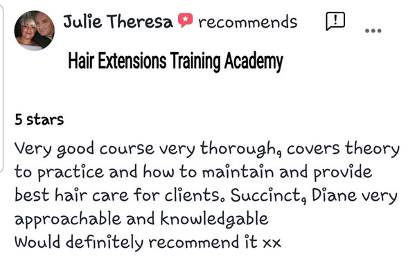 review by student hair extensions academy