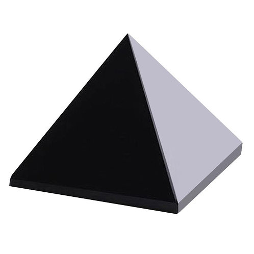 Pyramid Healing Crystal Crafts Black Natural Obsidian Quartz Crystal Home Decor