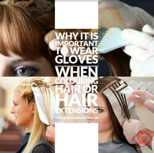 Why it is important to use gloves when dying hair or hair extensions ...