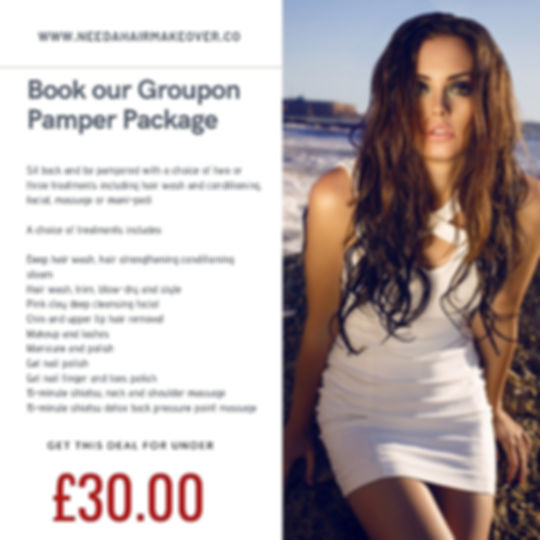 groupon pamper package needahairmakeover