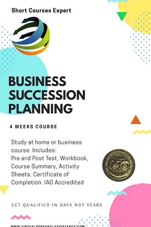 Business Succession Planning - Developing and Maintaining a Succession Plan