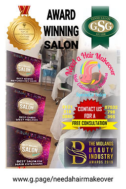 award winning salon need a hair makeover