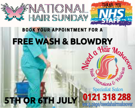 NHS FREE HAIR DO NATIONAL HAIR SUNDAY NE