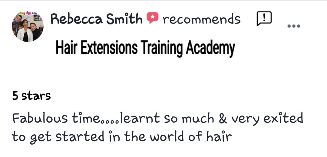 Hair Extensions Training Academy Testimonial 8