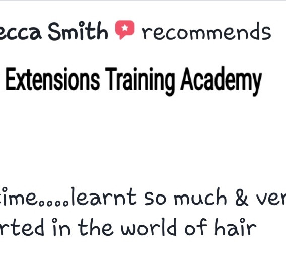 Hair Extensions Training Academy Testimonial 8
