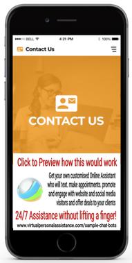 Contact-Us chatbot Sample