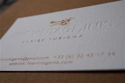thevintageink card