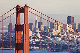 Photo of San Francisco through Golden Gate Bridge