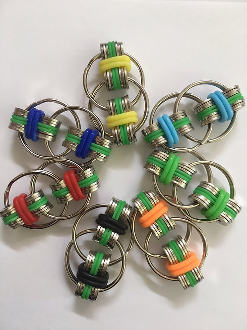 Blue/Green base with coloured bands fidget toys