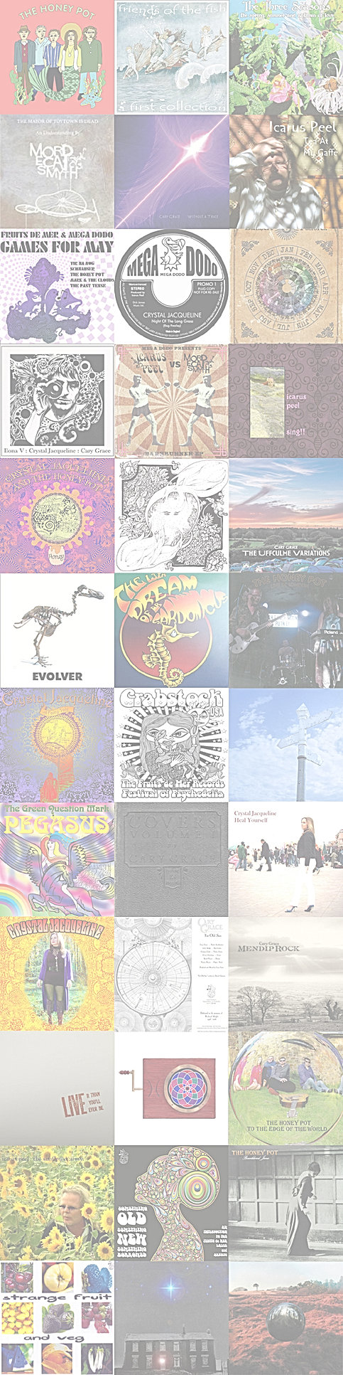 Icarus Peel's Acid Reign: Discography A