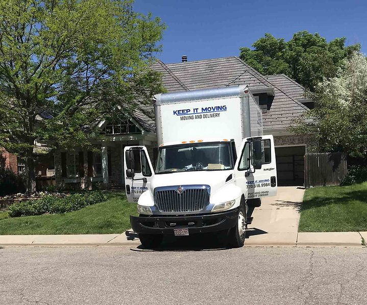 moving truck relocating resident metro denver area