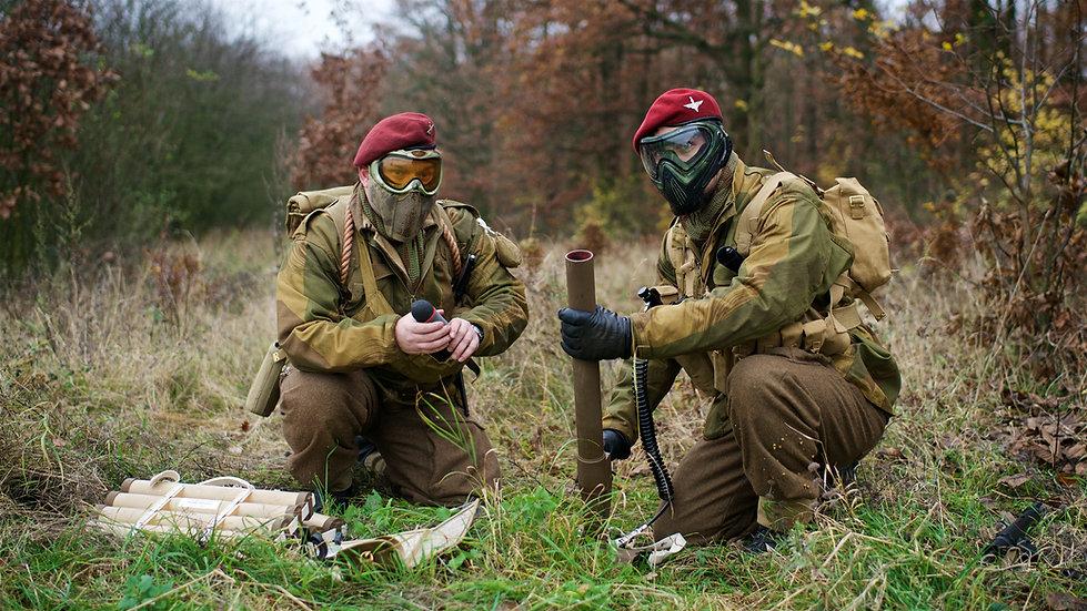 Paintball mortar team