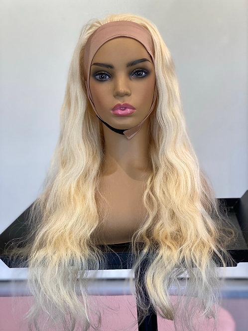 HEADBAND WIG- Blonde Body Wave- 20in
