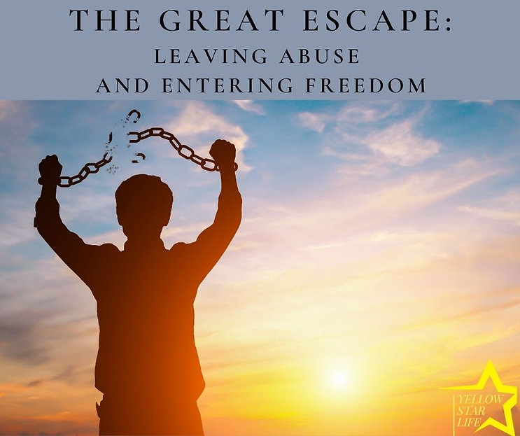 The great escape Leaving abuse and enter