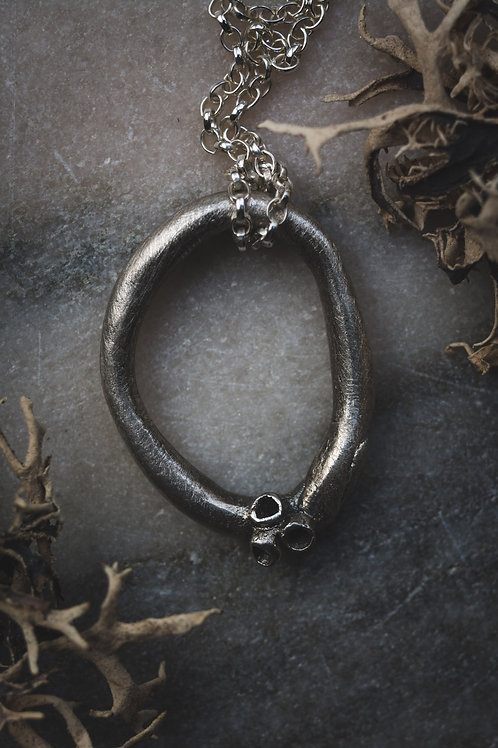 Large Minimal Lichen Loop Necklace