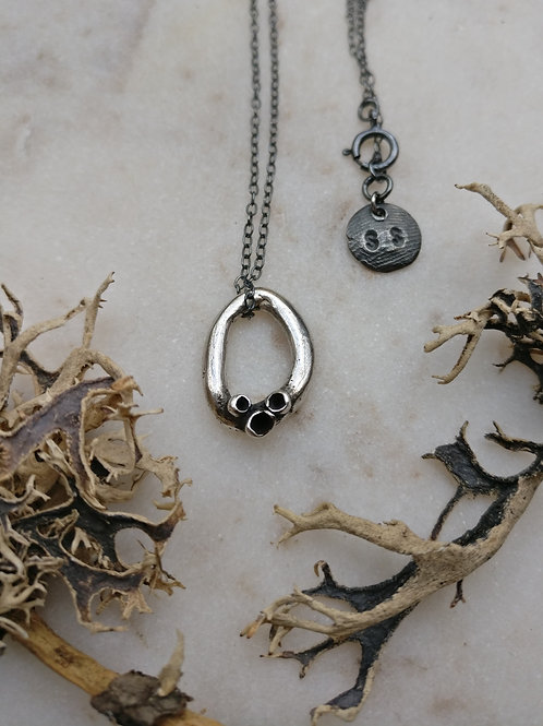Mini Cupped Lichen Loop Necklace