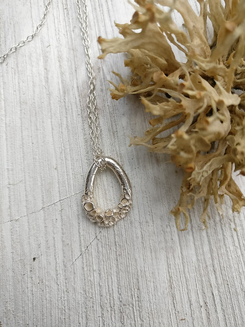Mini Leafy Lichen Loop Necklace