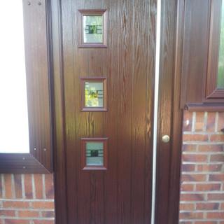 Rosewood wood effect Composite Door