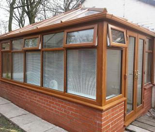 uPVC Glass Conservatory Light Oak