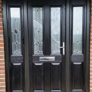 Black 2 panel composite door