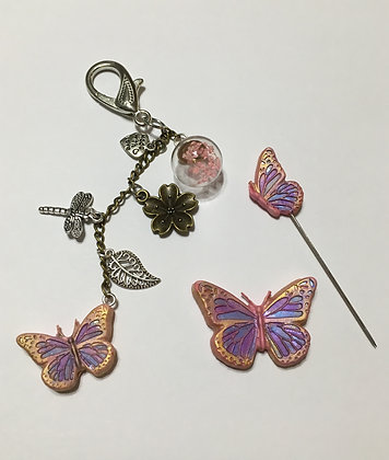 Stained Glass Butterfly Set - Clay Art