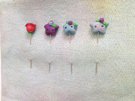Kawaii Stars Counting Pins - Clay Art