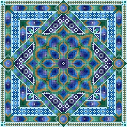 Peacock Mandala (Cross stitch Only)