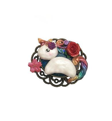 Rainbow Unicorn - Original Clay Art