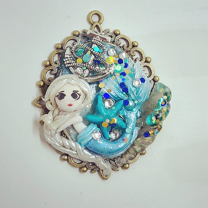 Aquamarine Mermaid Needleminder