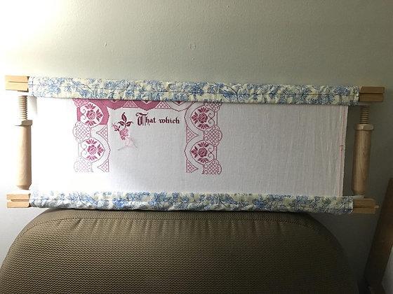 Custom Scroll Frame Covers (Choose your fabrics)